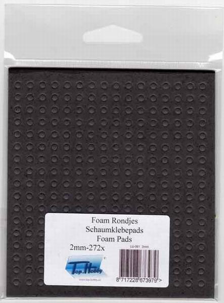 Dubbelzijdig klevent foam Rondjes zwart 3 mm