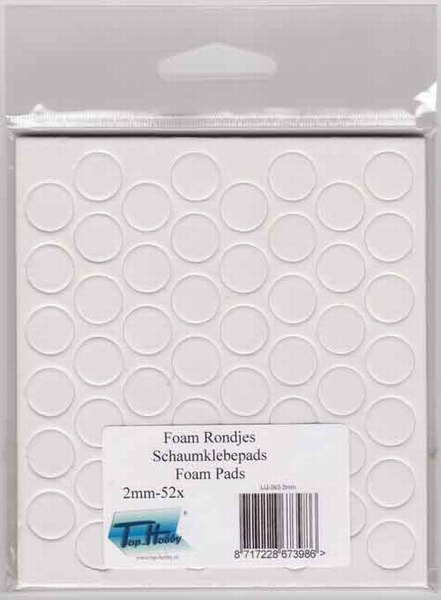 Dubbelzijdig klevent foam Rondjes wit 13 mm