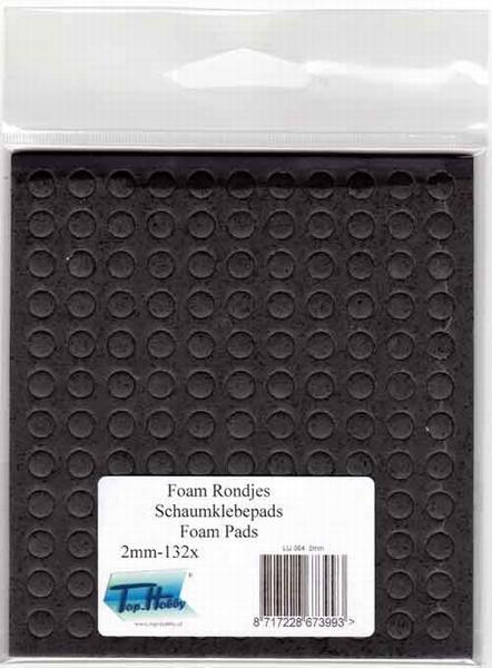 Dubbelzijdig klevent foam Rondjes zwart 2 mm