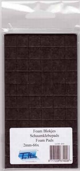 Dubbelzijdig klevent foam pads zwart 12 mm