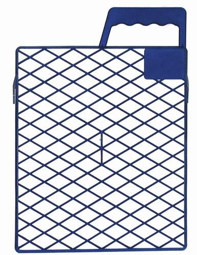 Afstrijkrooster kunststof 18 x 21 cm. blauw