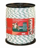 AKO PremiumLine schrikkoord wit/groen 6.5mm - 400m