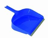Veegblik kunststof groot blauw  met grijze rubberen rand