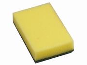 Schuurspons  Geel/groen KLEIN 10 x 6 x 3 cm dik 10/stuks