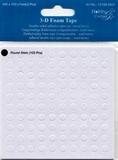 Dubbelzijdig klevent foam Rondjes 6 mm 1 mm dik 100 stuks