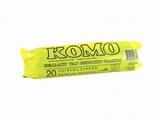 Vuilzak Komo 60 x 80 cm. / 20 stuks op rol / 50 ltr.