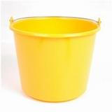 Emmer kunststof Prof, geel 12L.