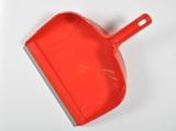 Veegblik kunststof groot rood  met grijze rubberen rand