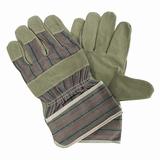 Handschoen -DAMES- splitleer, grijs maat 8